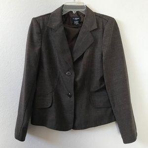 T. Milano Brownish Gray Blazer Jacket Size 12P
